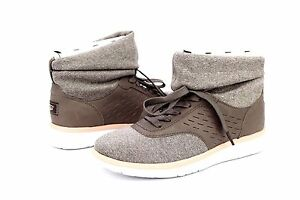 d0262102a89 UGG ISLAY LEATHER SPANDEX KNIT MOLE HIGH TOP SNEAKERS SIZE 8 US ...