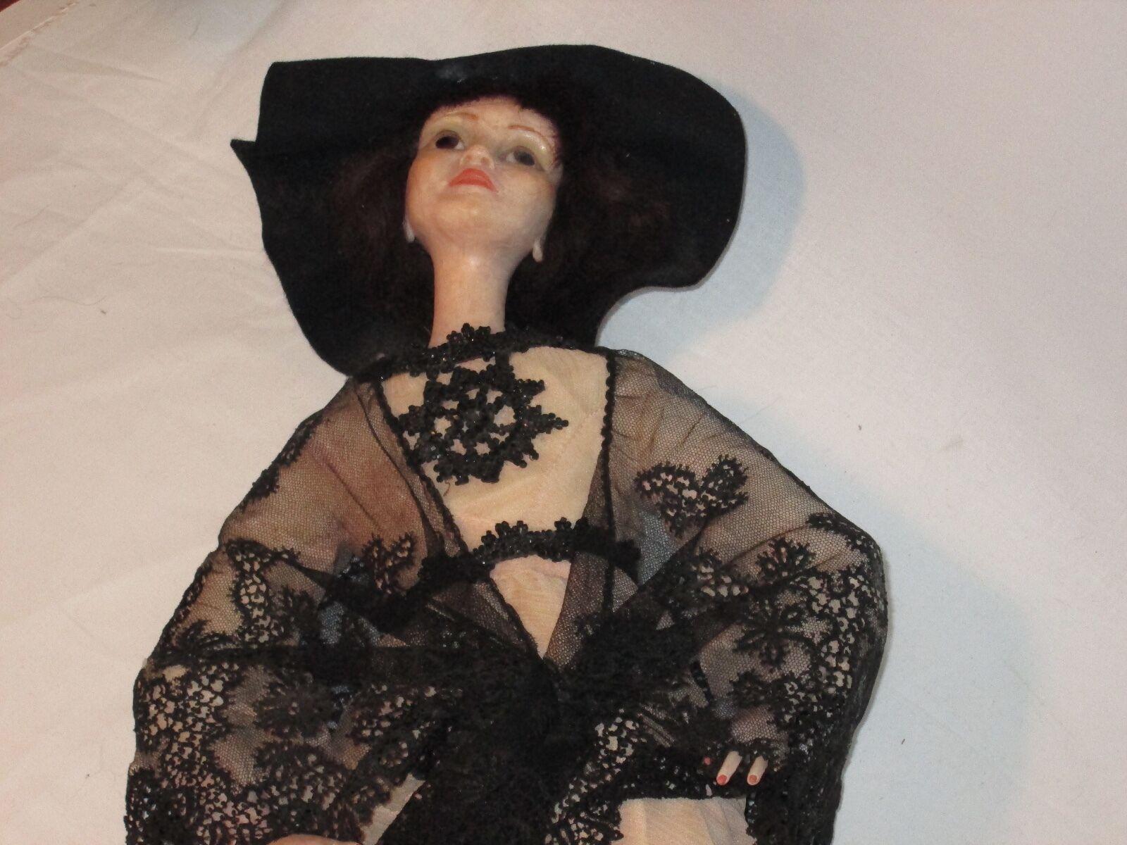 Raro Edna Daly 1983 Cera En Porcelana de 23  OOAK Victoriana Doll