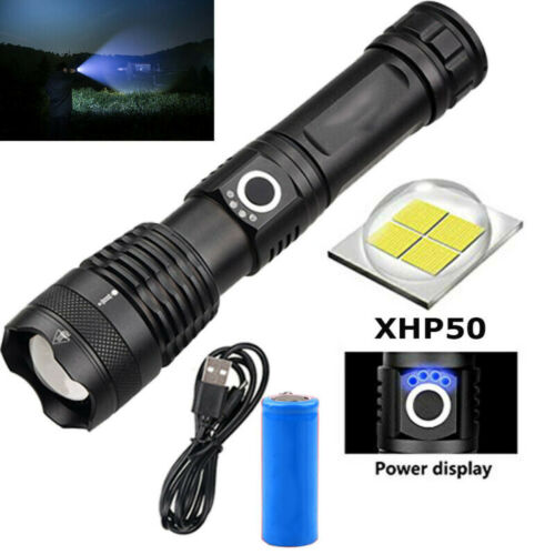 500000 Lumen Taschenlampen XHP50 USB LED 5 Mode 18650 Zoom Zoomable Bright