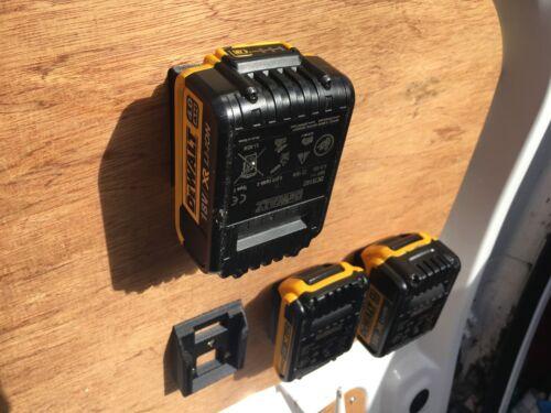 aussi 18v Support Soutirage Van 5x Batterie Montures pour DeWalt 20v MAX