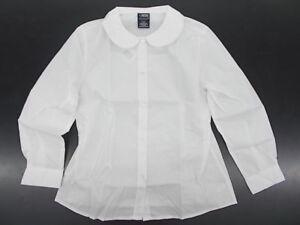 67ef7b20a1b66b Toddler   Girls French Toast Uniform White Shirt w  Peter Pan Collar Sz  2T-12.5