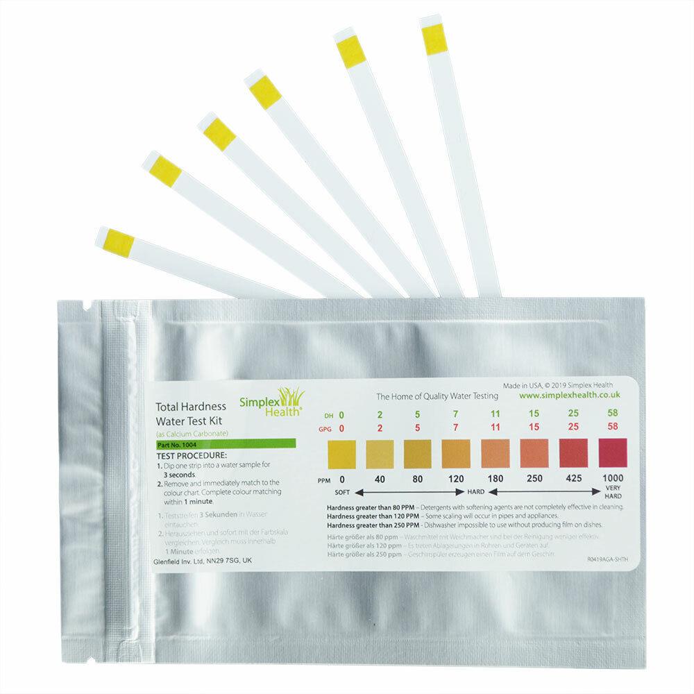 Total Water Hardness Test Strips Kit X 10 Drinking Water Softener Testing Setup Ebay