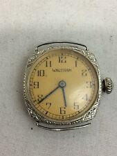 Beautiful Vintage / Antique 14K White Gold Waltham Ladies Wristwatch 17 Jewels