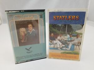 Country-Cassette-Tapes-Set-of-2-The-Kendalls-amp-Statler-Brothers-Greatest-Hits