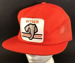 Image is loading Vtg-Elephant-Brand-Fertilizer-Mesh-Trucker-Hat-Snapback- de8375b5f32
