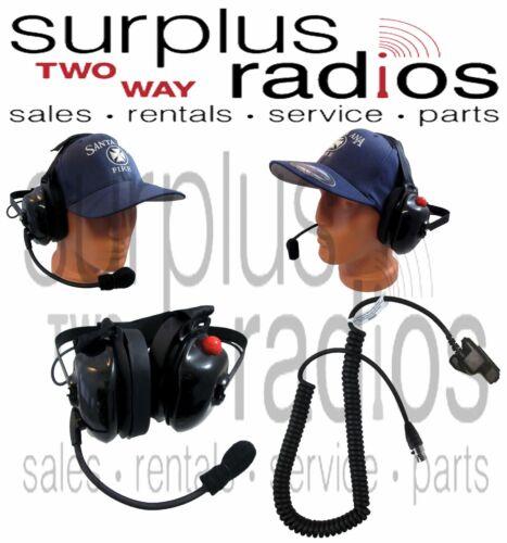 New Dual Muff Racing Headset Motorola HT1000 XTS2500 XTS3000 XTS5000 MTS2000