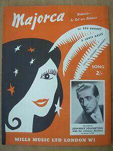 Vintage Sheet Music - Majorca - Johnny Johnston