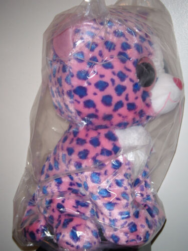 """NEW MWMT Claire/'s Exclusive Ty 17-18/"""" JUMBO Beanie Boos REAGAN the Leopard Cat"""
