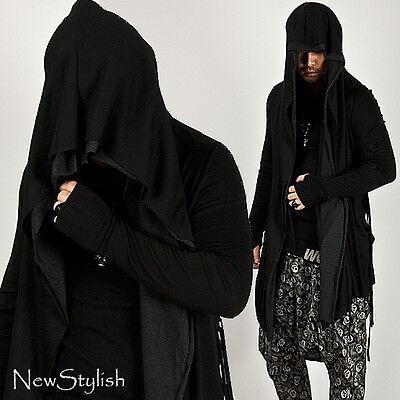 NewStylish Mens Fashion Tops Jacket Coat Layered Shawl Dark Arm-warmer Cardigan