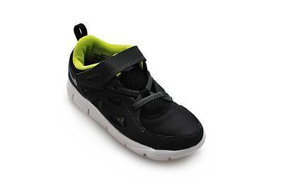 Los niños Nike Free Run 2 (TDV) - 443744 093-Negro Gris Oscuro Fuerza Verde Anthrac