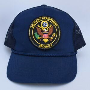 fd6abe3078b Details about MILITARY DEPARTMENT SECURITY One Size Fits All Snapback  Trucker Baseball Cap Hat