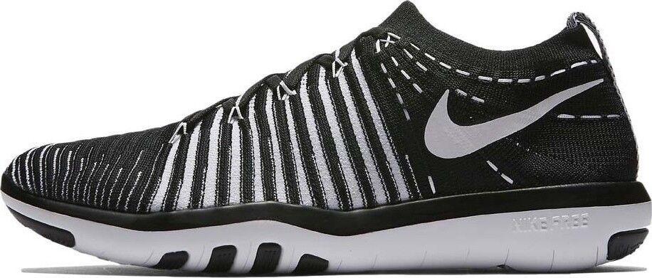 NIKE donna Free Transform Flyknit Nuovo Nero Bianco scarpe da ginnastica presto gr 38, 5 Sock
