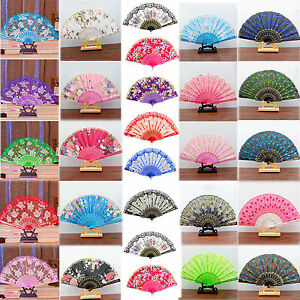 Spanish-Style-Dance-Wedding-Party-Lace-Silk-Folding-Hand-Held-Flower-Fan-Best
