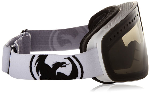 Dragon Alliance NFX Goggles Ski snowboard Powder Smoke//Wh Yellow bonus lens NEW