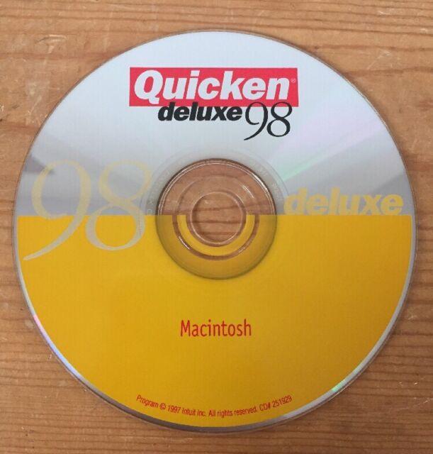 1997 Intuit Quicken Deluxe 98 Macintosh Mac Edition Software Installation  Cd-rom
