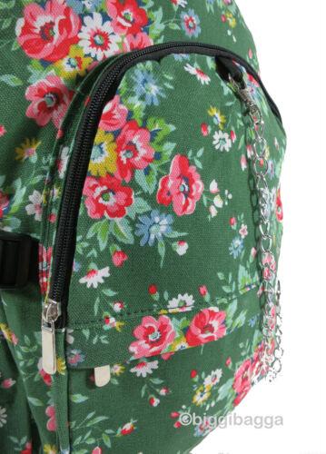 VINTAGE FLORAL RUCKSACK Backpack Flowers School College Uni Gym Bag Emo Goth