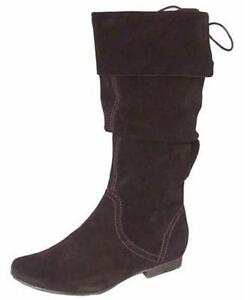 in 95 pelle £ Rrp fibbie donna da Stivaletti con marrone vitello di da New donna w1aS6q