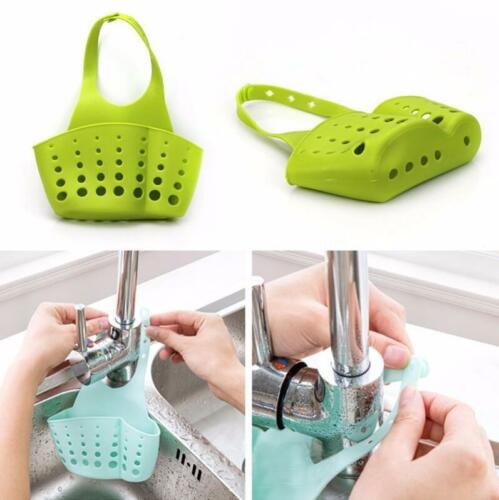 Portable Home Kitchen Hanging Drain Bag Basket Bath Storage Tools Sink Holder 32
