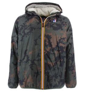 the best attitude 5750d 4851d Dettagli su Kway giubbotto camouflage impermeabile con orsetto interno per  uomo Kway LE VRAI