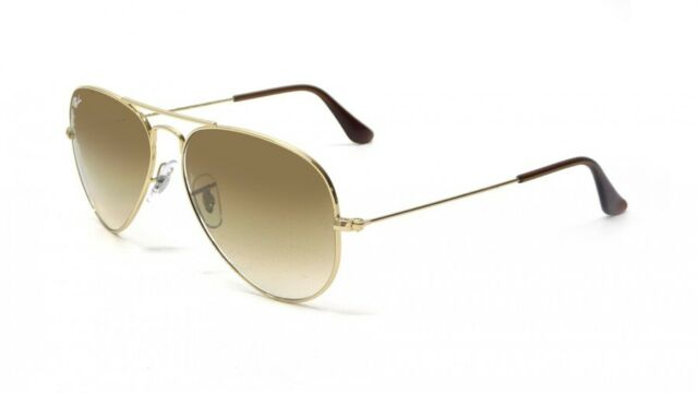 Authentic Aviator by Ray-Ban Sunglasses 001/51 62 Gold Frame Brown ...