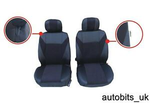 For Renault Espace Kangoo Trafic Master 1+1 Black Fabric Front Seat Covers