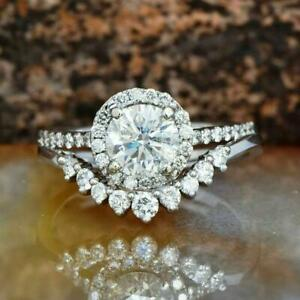 Gorgeous 1.30 Ct Round Cut Green Moissanite With 14KT Solid White Gold Ring,Moissanite Ring,Halo Ring,Engagement/&Wedding Ring,