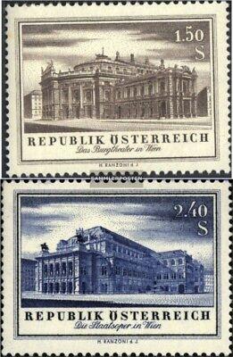 kompl.ausg. Gestempelt 1955 Wiedereröffnung Österreich 1020-1021