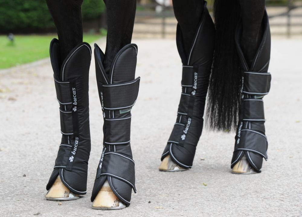 BUCAS Libertà Stivali Da Viaggio, Nero, Taglia Pony, SET 4 Stivali Da Viaggio