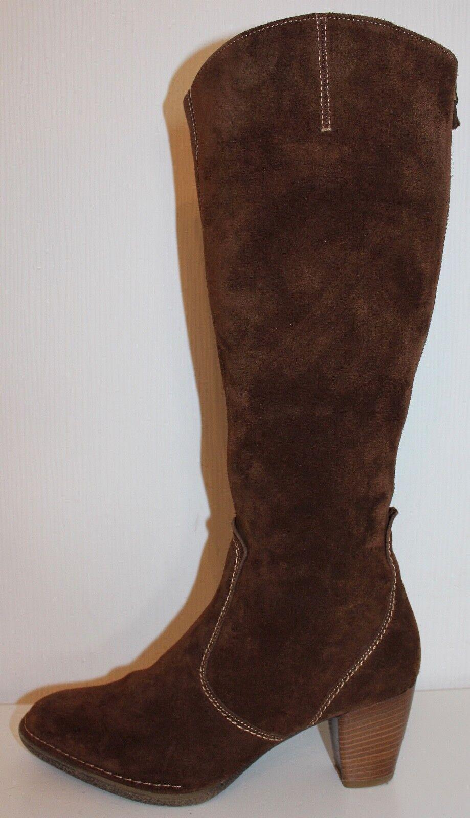Ara señora Echt Leder botas Leather botas talla 38,5 uk5.5 serraje cognac marrón