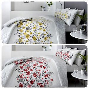Dreams-amp-Drapes-GABRIELLA-Rich-Floral-Band-amp-Leaf-Reverse-Duvet-Cover-Bedding