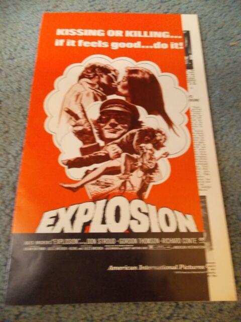 EXPLOSION(1970)DON STROUD ORIGINAL PRESSBOOK