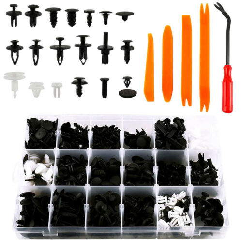 435Pcs Car Body Trim Clips Retainer Bumper Rivets Screw Panel Push Fastener Kit