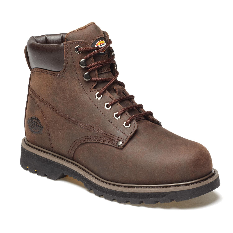 Dickies Welton no Seguridad botas De Trabajo Marrón (Tallas 6-12) Para Hombre Zapatos