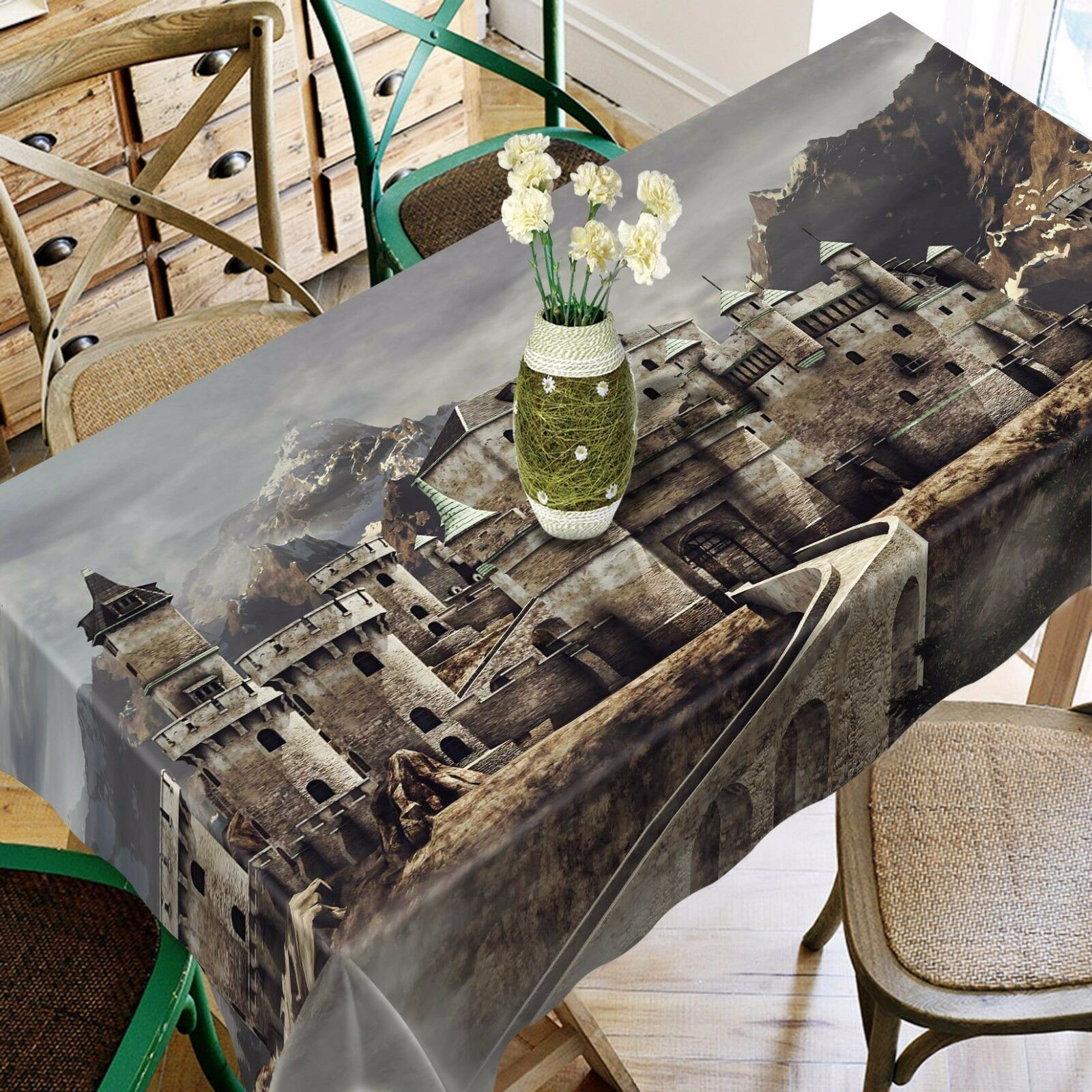 3D Town sky 78 Tablecloth Table Cover Cloth Birthday Party Event AJ WALLPAPER AU