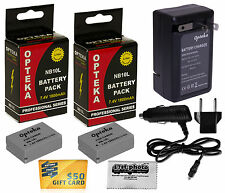 2 Pack NB-10L Battery Pack + Charger for CANON PowerShot NB10L NB 10L 5668B001