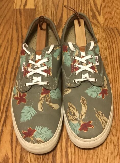 Vans Chima Ferguson Pro Aloha Light Grey Floral VN 0UARAP4 Men's Size 13