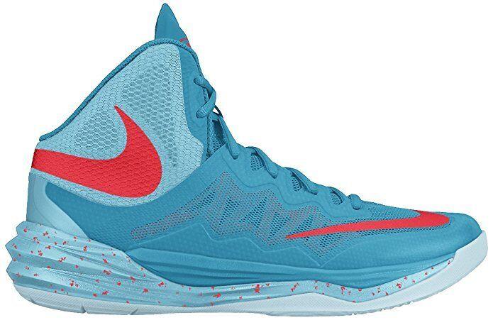 NIKE Men Prime Hype DF II Basketball Shoes Sneakers blue lagoon bright crimson 9