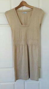 WISH-Gold-Sparkly-Dress-Knee-Length-Size-8
