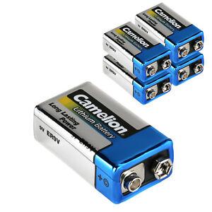 5x-Lithium-9V-Volt-Block-E-Batterie-Rauchmelder-bis-zu-10-Jahre-ER9V