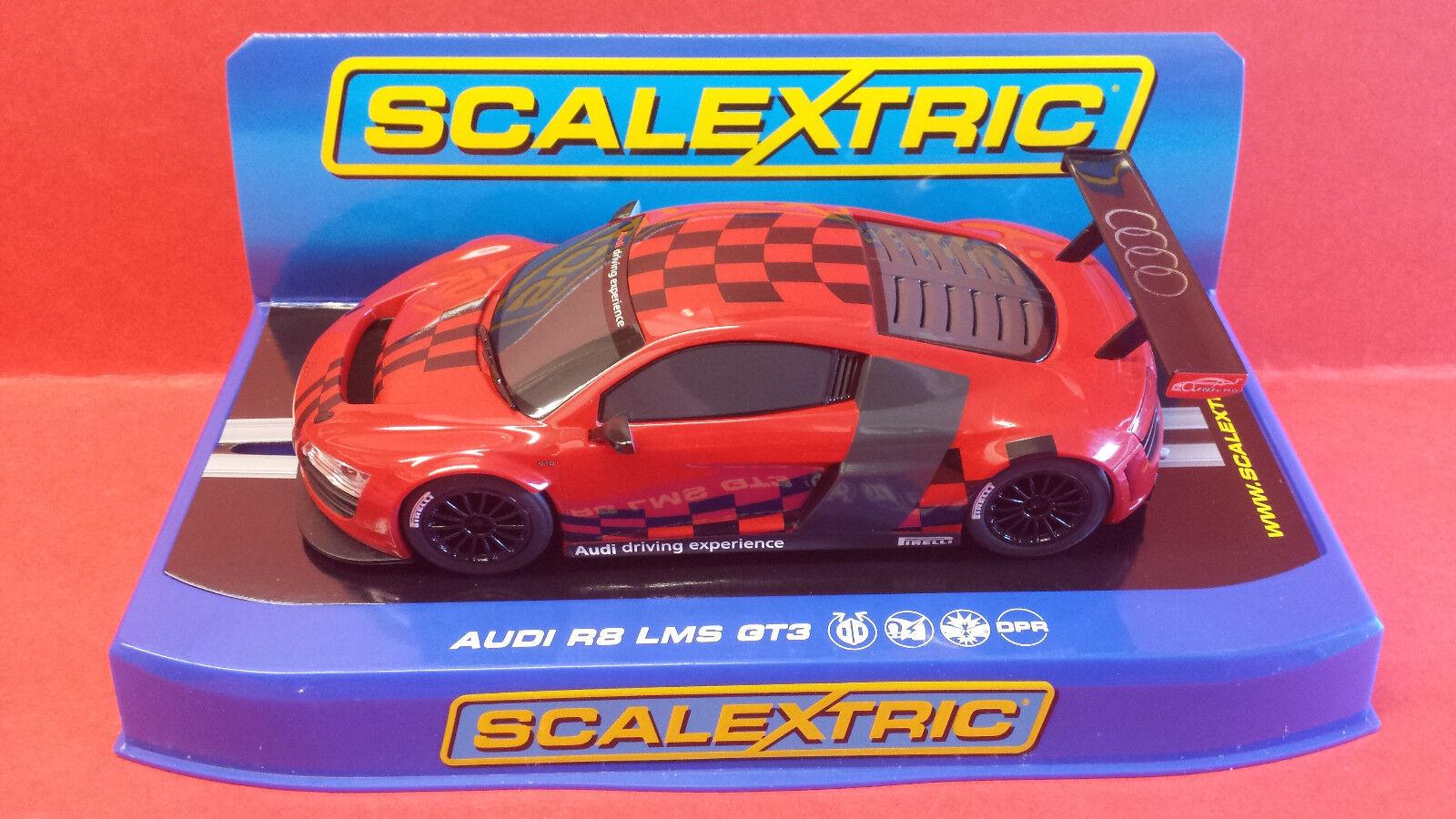 SCALEXTRIC C3177 AIDI R8 LMS RACE EXPERIENCE SUPER RESISTANT.