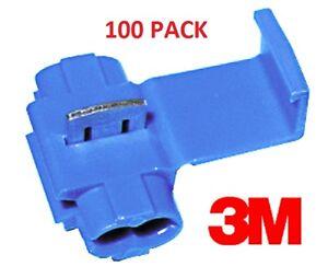 3M SCOTCHLOK(tm) LINE SPLICERS/ADAPT<wbr/>ERS BLUE 14-18 GAUGE #3M801-100PK