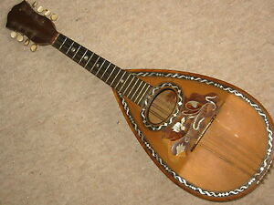 Most-beautiful-inlayed-old-Italian-mandolin-Mop-034-M-amp-G-Casella-034