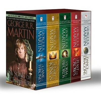 A Game of Thrones Set Five Book Box Set Mass Market