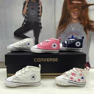 Converse-First-Laces-All-Star-Culla-Neonato-Tela-Originali-Garantite-Italia-2018
