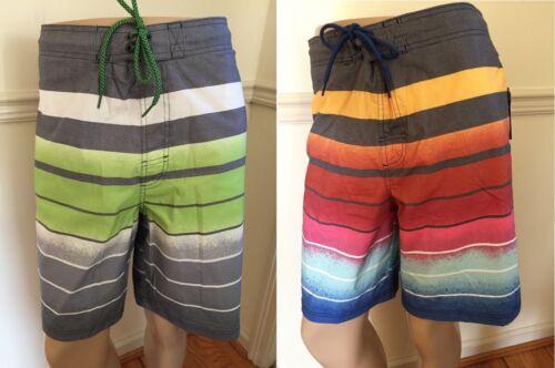 "NWT George Men/'s Swim Trunks E Board Shorts Elastic 20/"" Outseam Zip Pocket Strip"