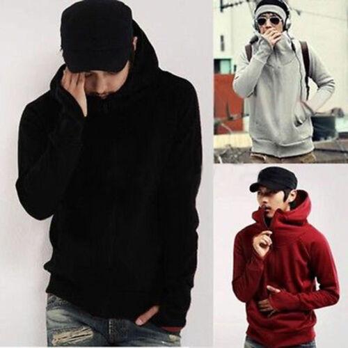 Mens Hooded Zipper Jacket Coat Sweatshirt Sweater Winter Warm Hoodie Top Outwear