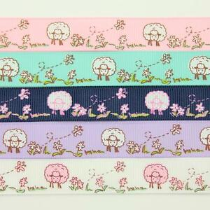 GROSGRAIN-RIBBON-10-16mm-5-COLOURS-VINTAGE-FLORAL-SHABBY-SHEEP-CHIC-WEDDING