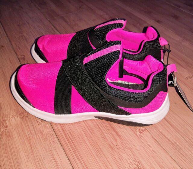 Running Shoe Sneaker Black Glitter Pink