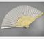 Chinese Bamboo Cloth Fan Wedding Dance Favours Folding DIY Painting Hand Fan