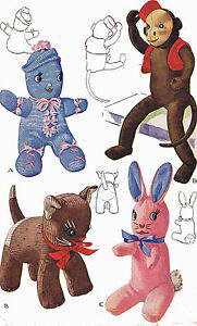 Stuffed Toy Pattern 1443 Sock Monkey